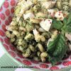 Cavatappi with Chicken and Basil Pesto