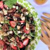 Summer Strawberry and Chicken Salad with Sweet Thyme Dressing