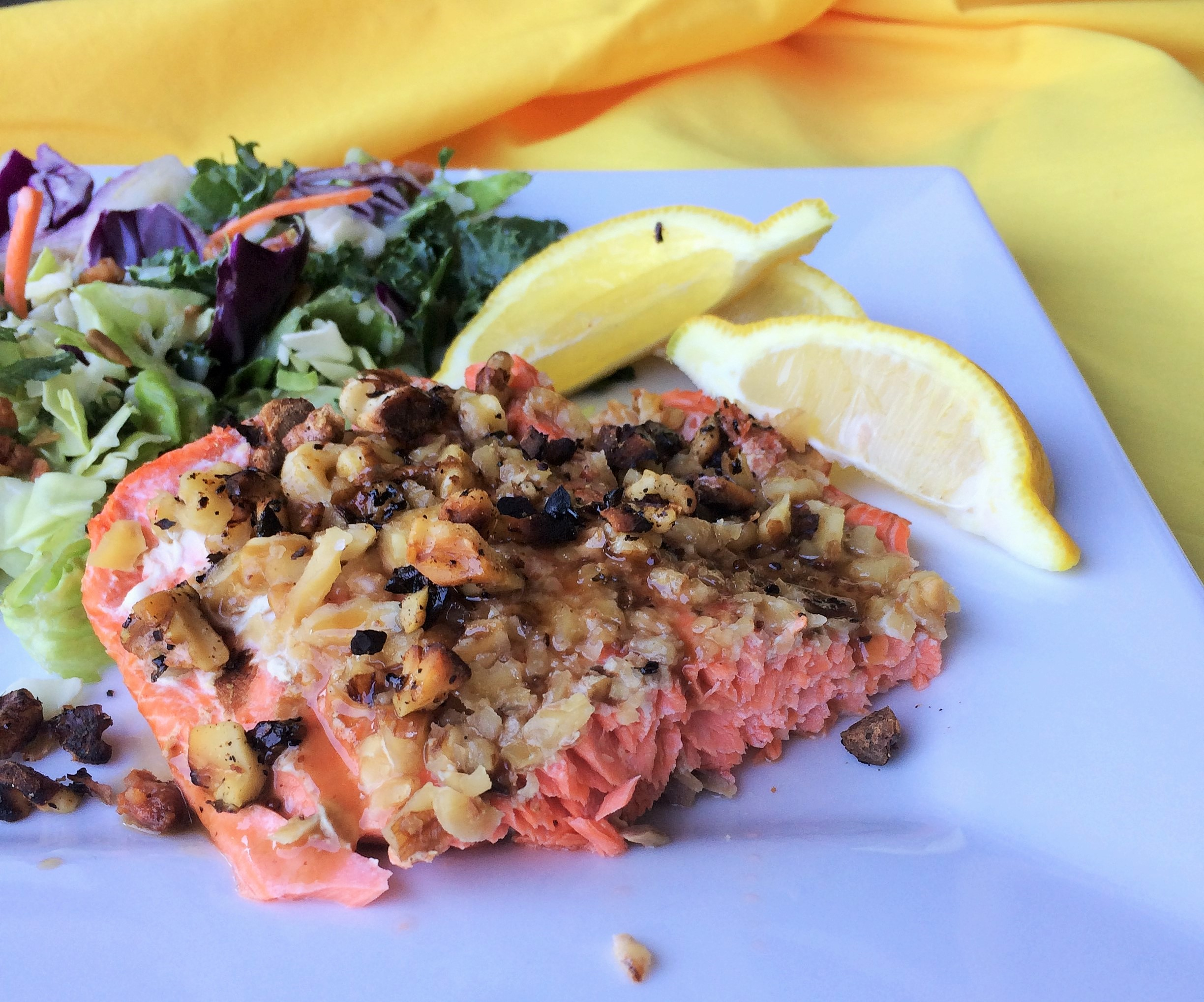 Bariatric friendly recipes inside karens kitchen maple walnut crusted salmon forumfinder Image collections