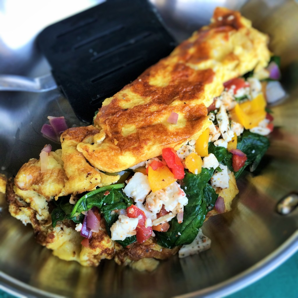 Spinach and Feta Cheese Omelet