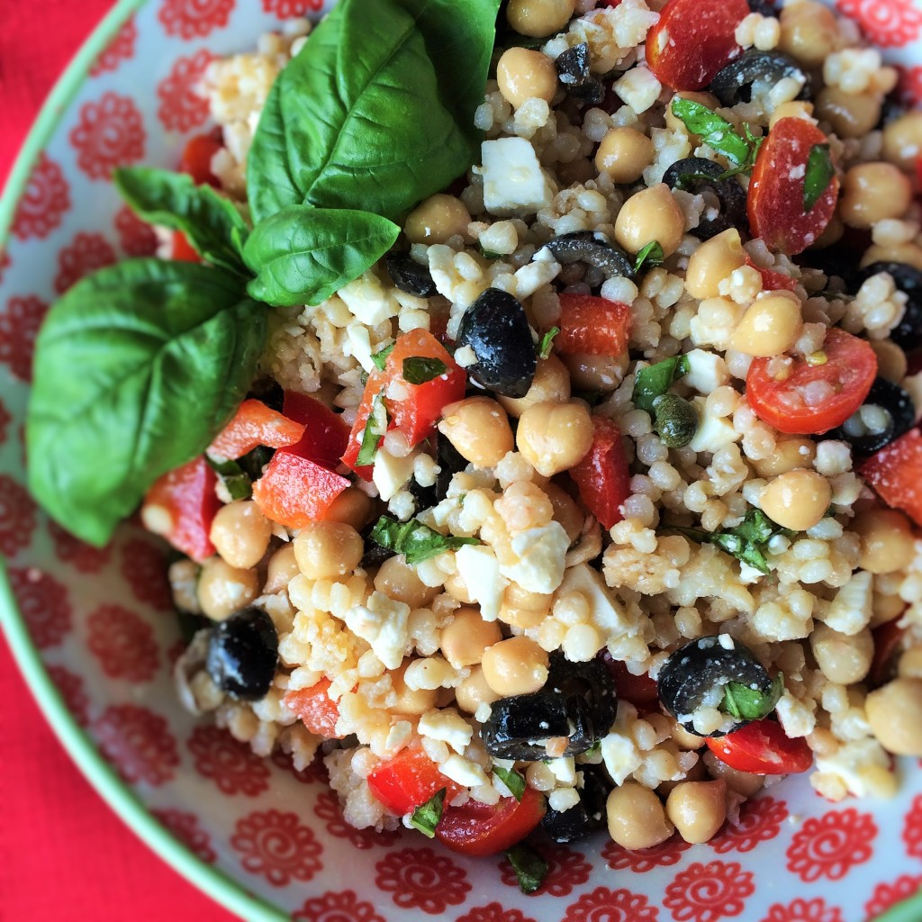 Couscous Salad with Feta and Chickpeas