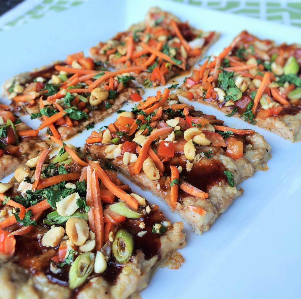 Chicken-Crusted Asian Veggie Pizza