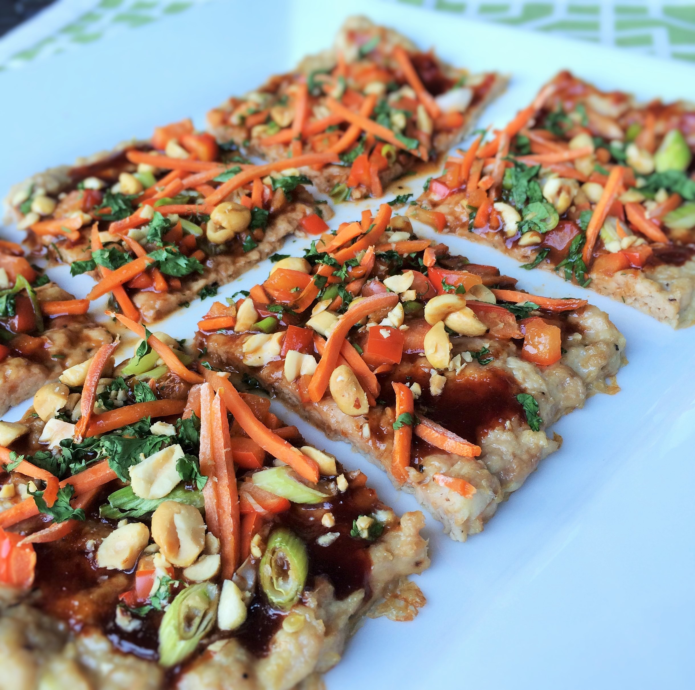 Chicken crusted asian veggie pizza inside karens kitchen chicken crusted asian veggie pizza forumfinder Choice Image