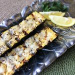 Grilled Zucchini with Garlic Lemon Baste