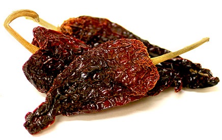 Ancho chile peppers