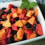 Mixed Fruit Salad with Lime and Mint
