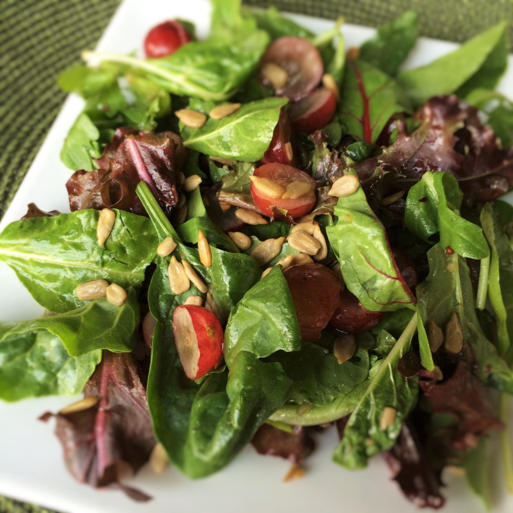 Mixed Greens, Grape and Sunflower Seed Salad