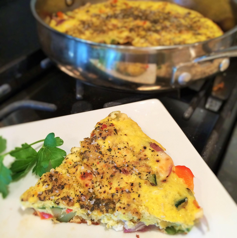 Summer Vegetables Three-Cheese Frittata | Inside Karen's Kitchen