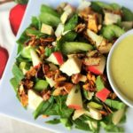Chopped Chicken and Apple Spinach Salad with Creamy Curry Dressing 2