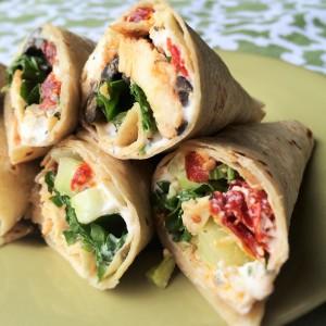 Mediterranean Chicken Wraps