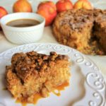 Cinnamon Apple Cake with Buttermilk Caramel Sauce