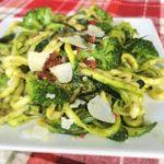 Fresh Basil Pesto Zucchini Noodles