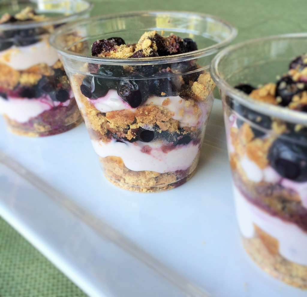 Mock Blueberry Cheesecake Cups
