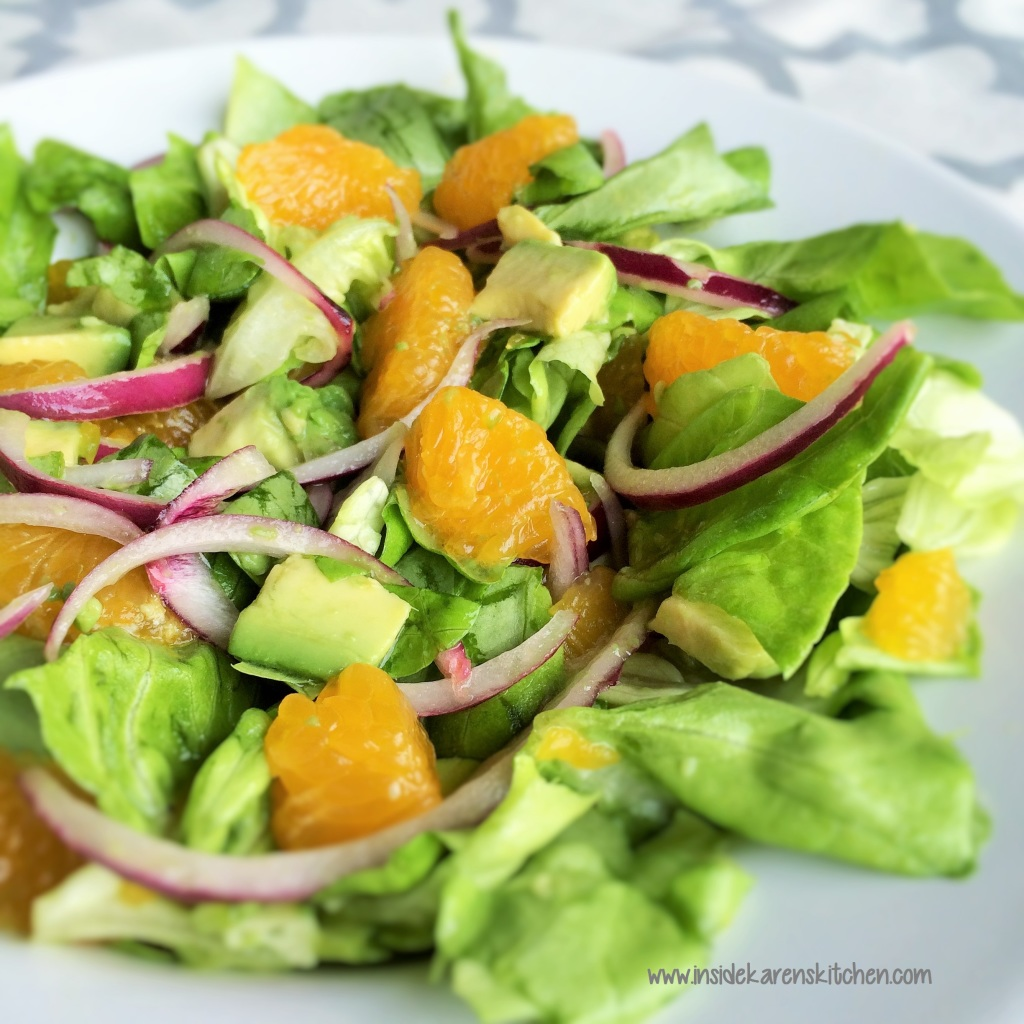 Orange, Avocado Butter Lettuce Salad