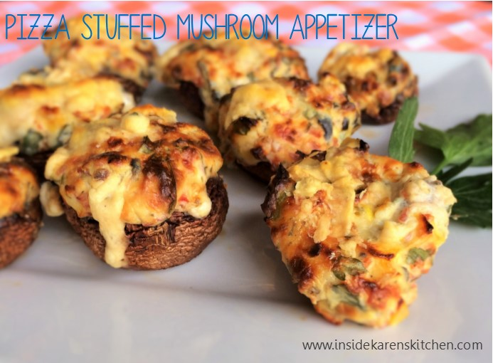 Pizza Stuffed Mushroom Appetizers2