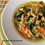 Turkey Spinach and Orzo Soup with White Beans