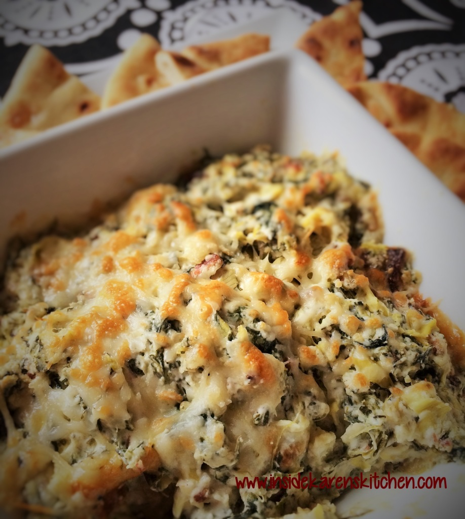 Artichoke Spinach Dip with Bacon