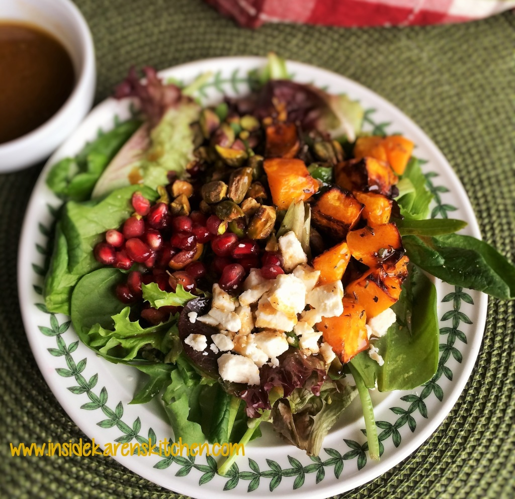Greens and Seeds with Balsamic Dressing