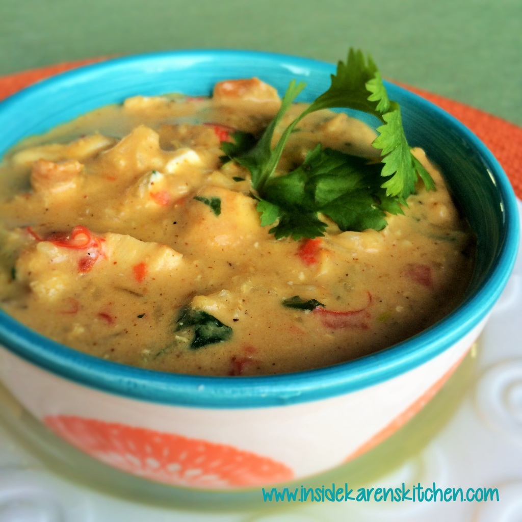 Southwestern Cream of Chicken and Rice Soup