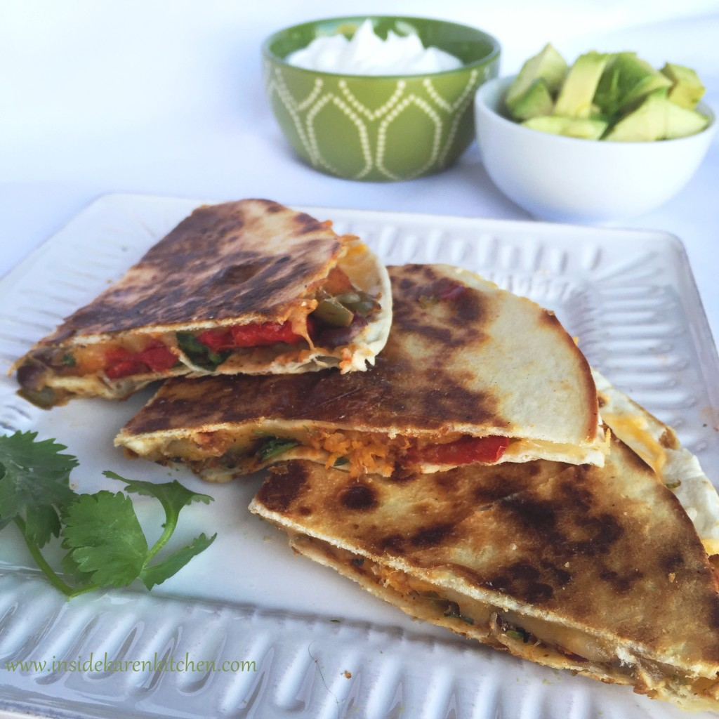 Roasted Butternut Squash and Black Bean Quesadillas | Inside Karen's ...