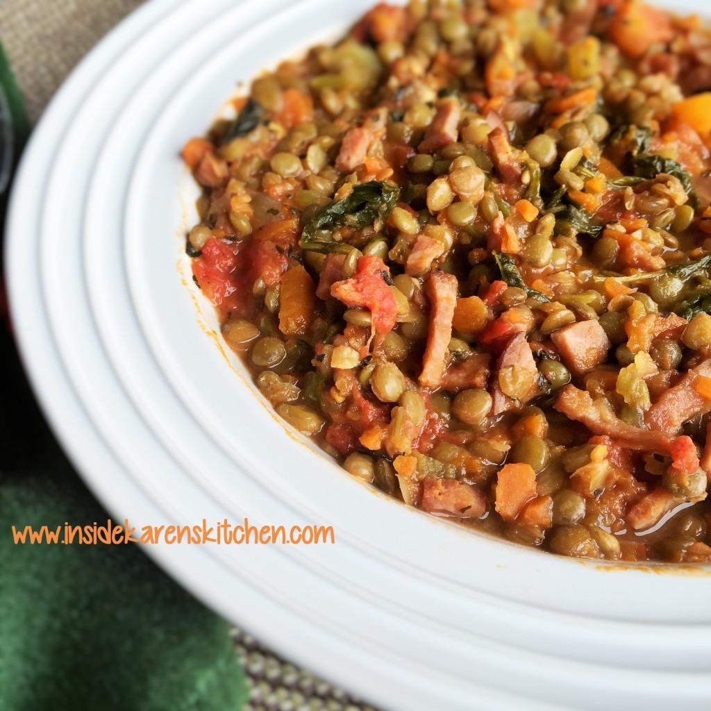 Smoky Lentil and Ham Stew 2