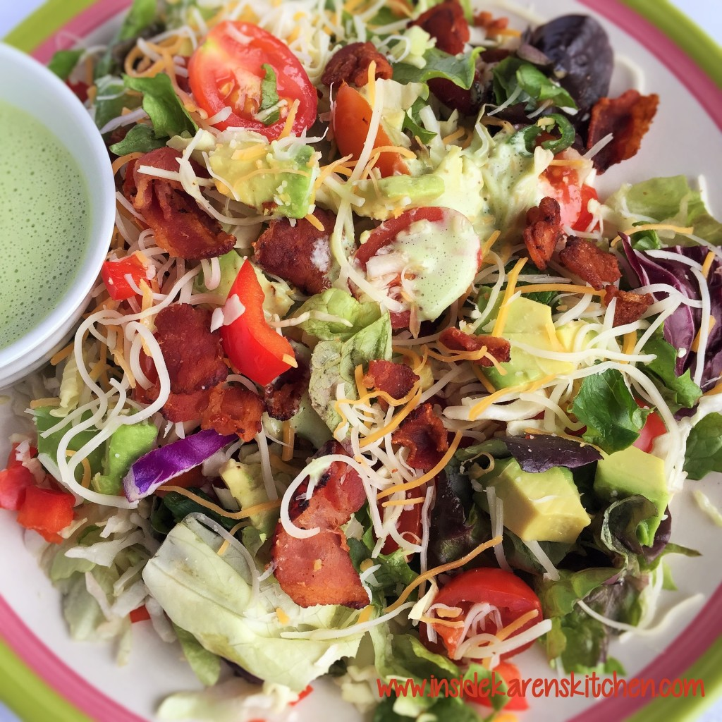 Chopped Southwestern Salad with Cilantro Lime Ranch Dressing