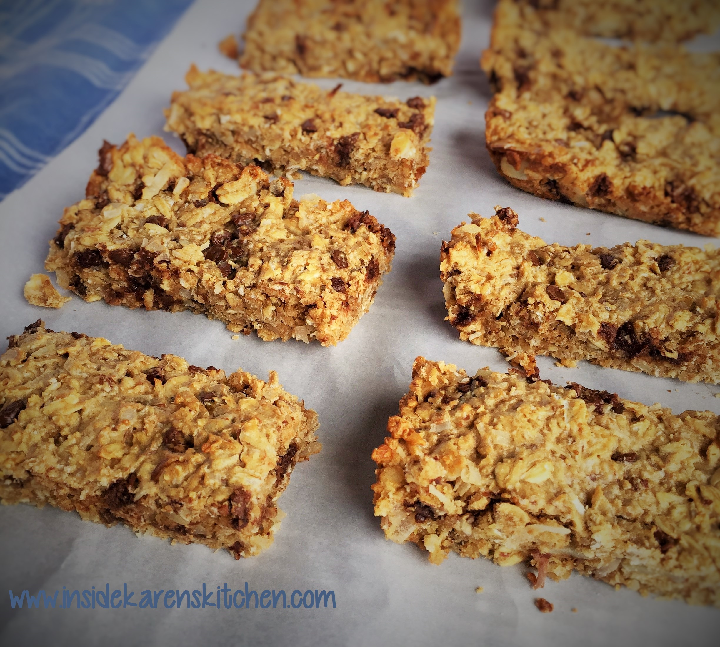 High Protein Chewy Granola Bars | Inside Karen's Kitchen