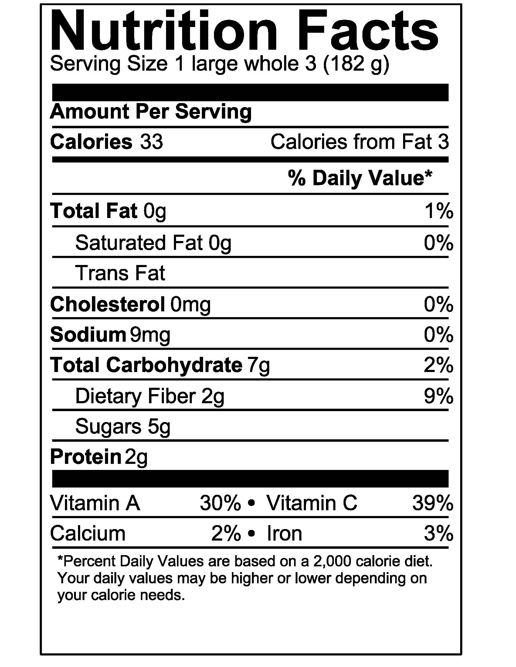 Nutrition Facts Label Template