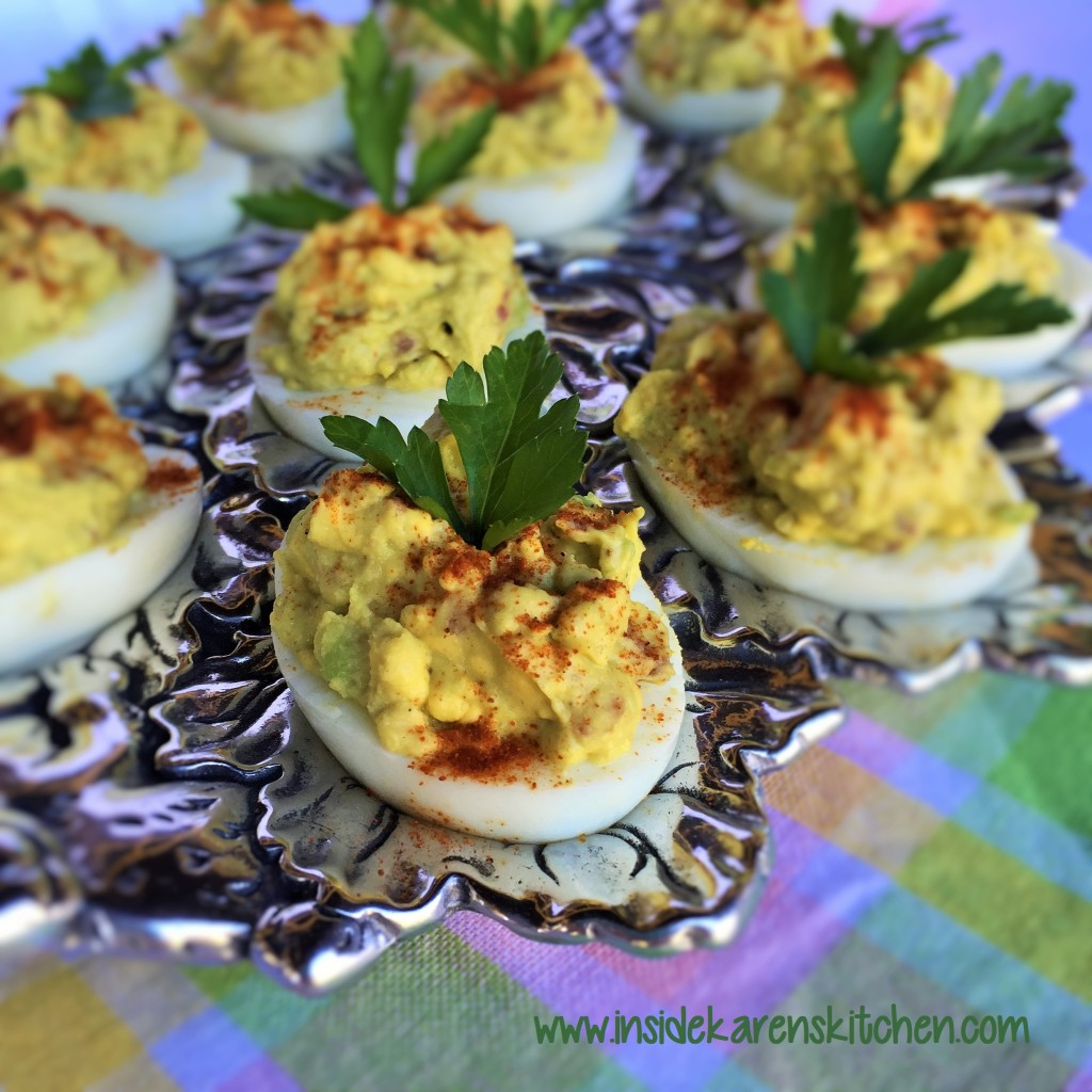 Avocado Bacon Deviled Eggs 1