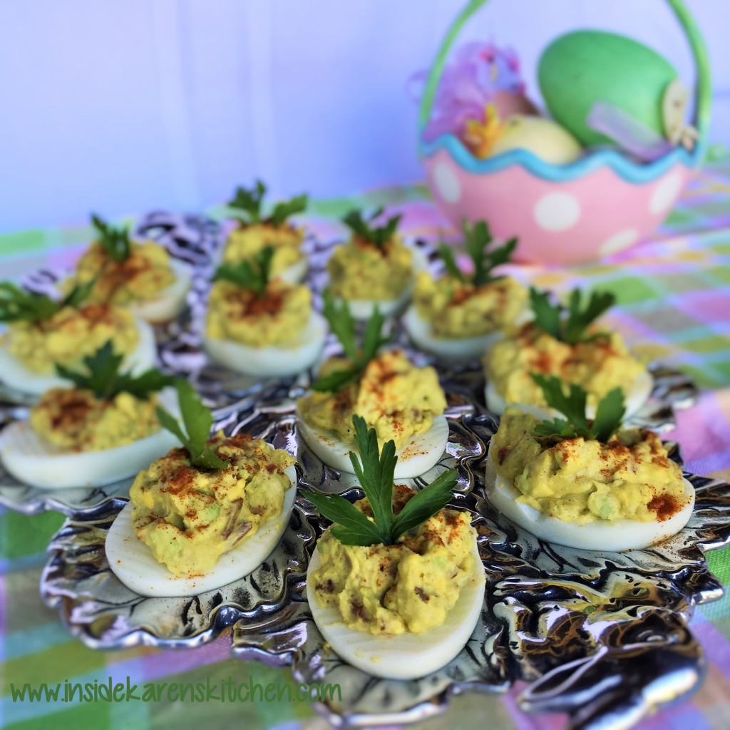 Avocado Bacon Deviled Eggs 2