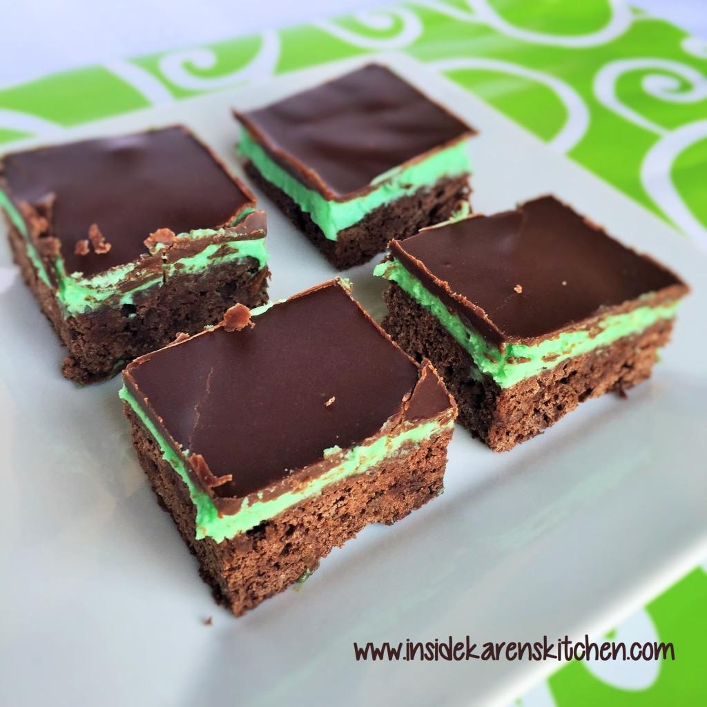 Chocolate Mint Brownies 1