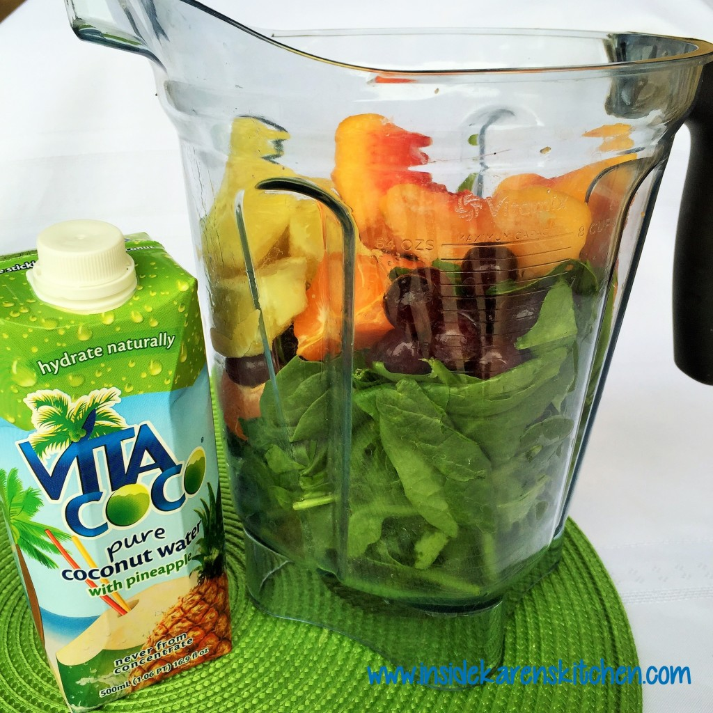 Simple Peach Coconut Green Smoothie