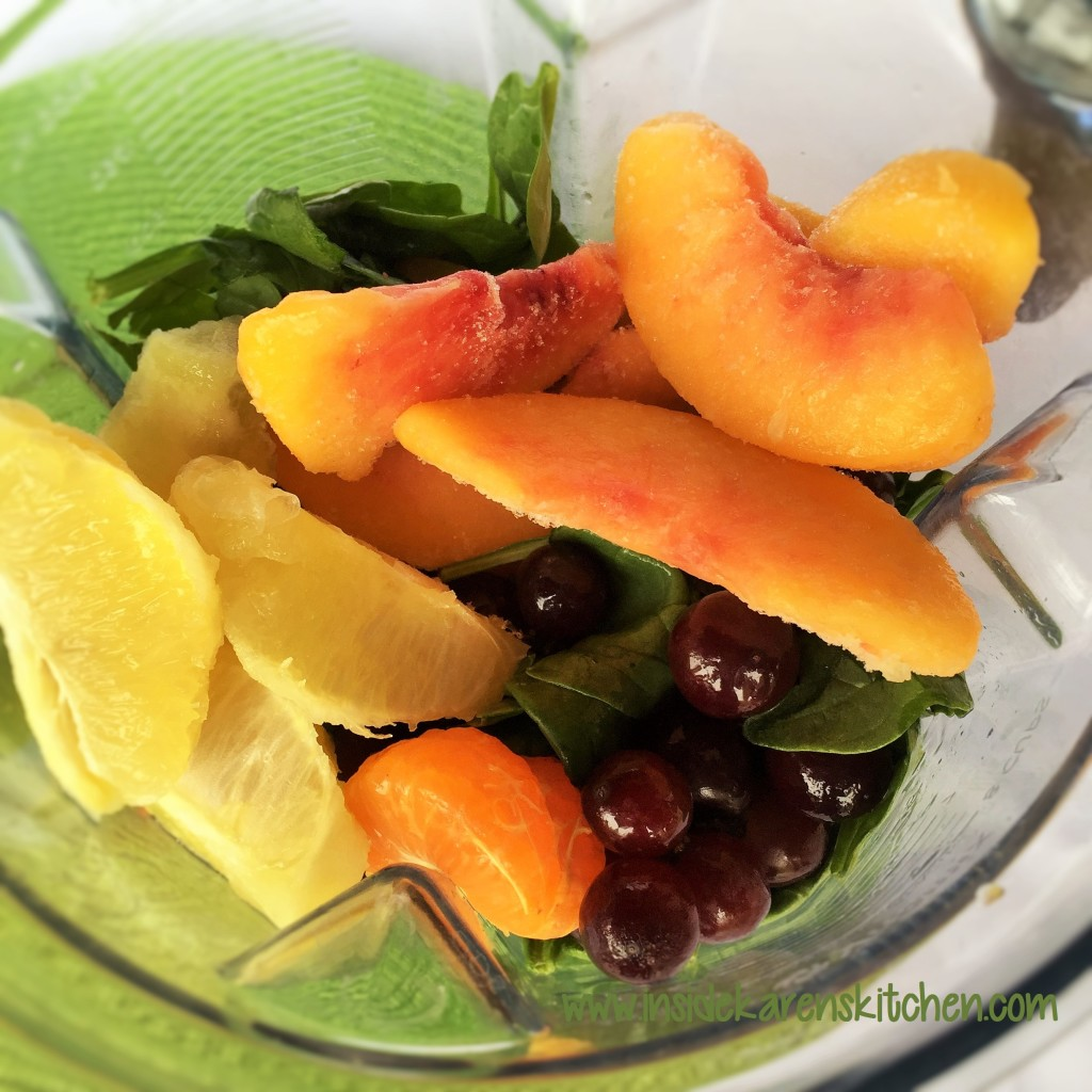 Simple Peach Coconut Green Smoothie 2