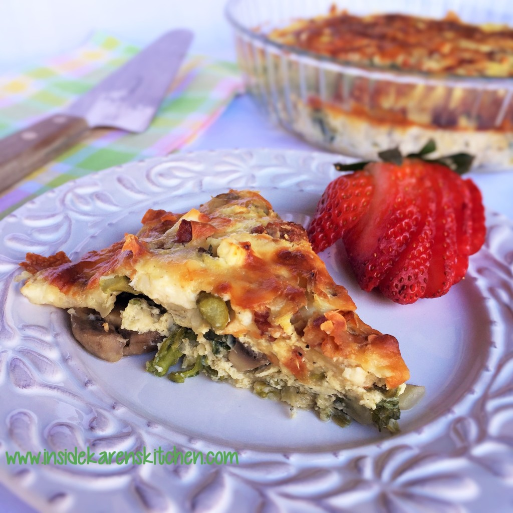 Spring Vegetables Crustless Quiche