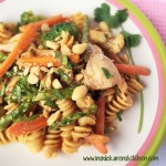 Spring Veggies and Chicken Peannuty Pasta 2