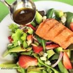 Strawberry Avocado Salad with Honey Glaze Grilled Salmon 3