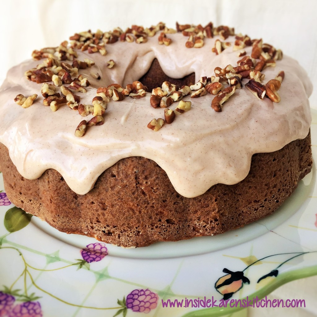Carrot Banana Cake with Cinnamon Cream Cheese Frosting