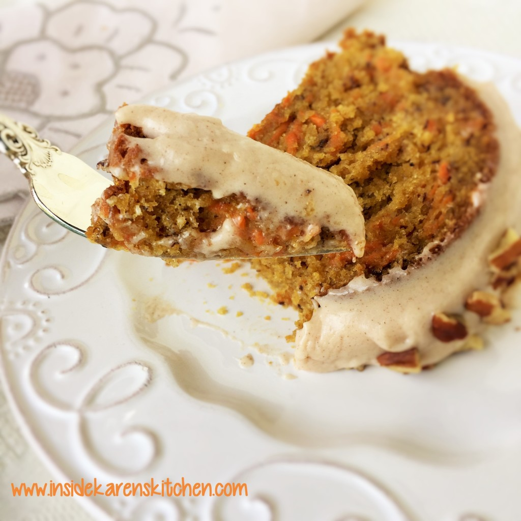 Carrot Banana Cake with Cinnamon Cream Cheese Frosting | Inside Karen ...