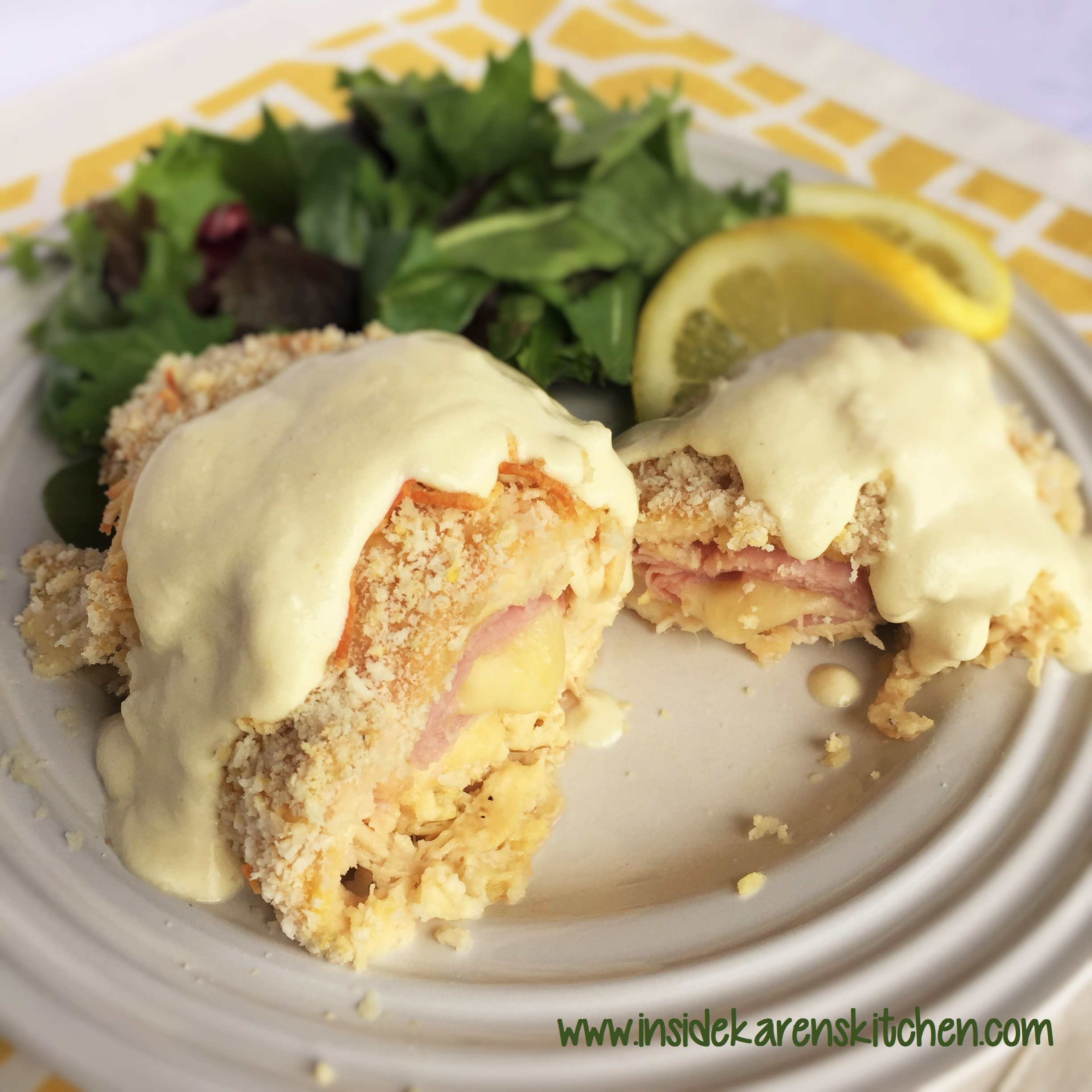 Chicken cordon bleu with butter lemon sauce inside karens kitchen chicken cordon bleu with butter lemon sauce forumfinder