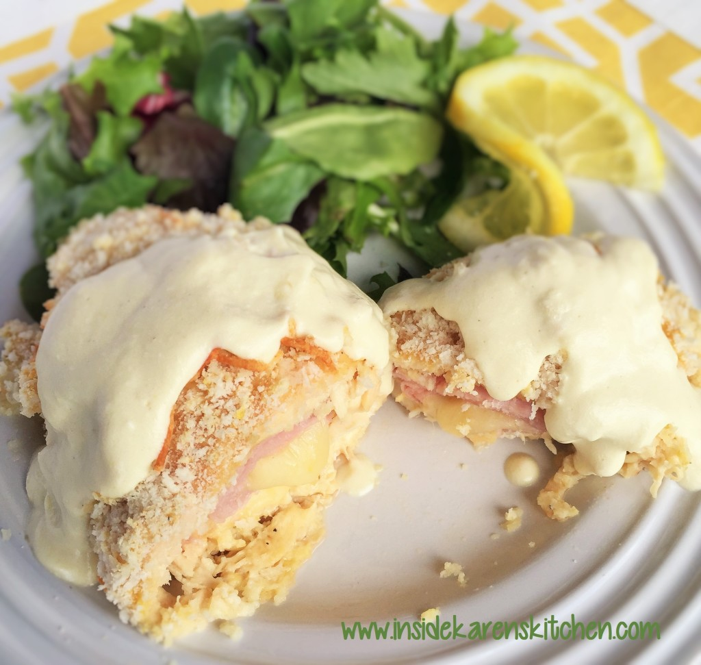 Chicken Cordon Bleu with Butter Lemon Sauce 3