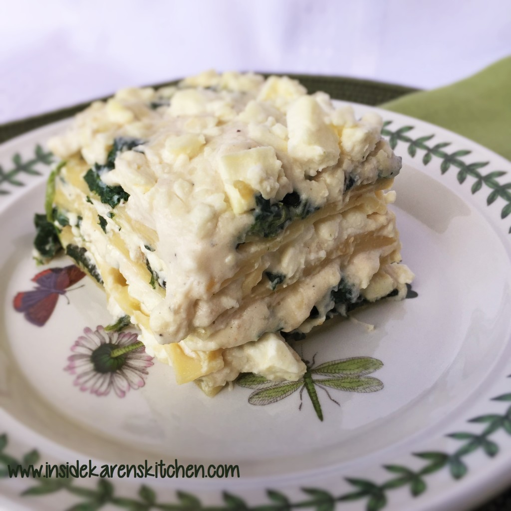 Feta and Spinach Lasagna 1