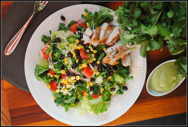 Southwest Chicken Salad with Avocado Buttermilk Dressing - Prevention RD