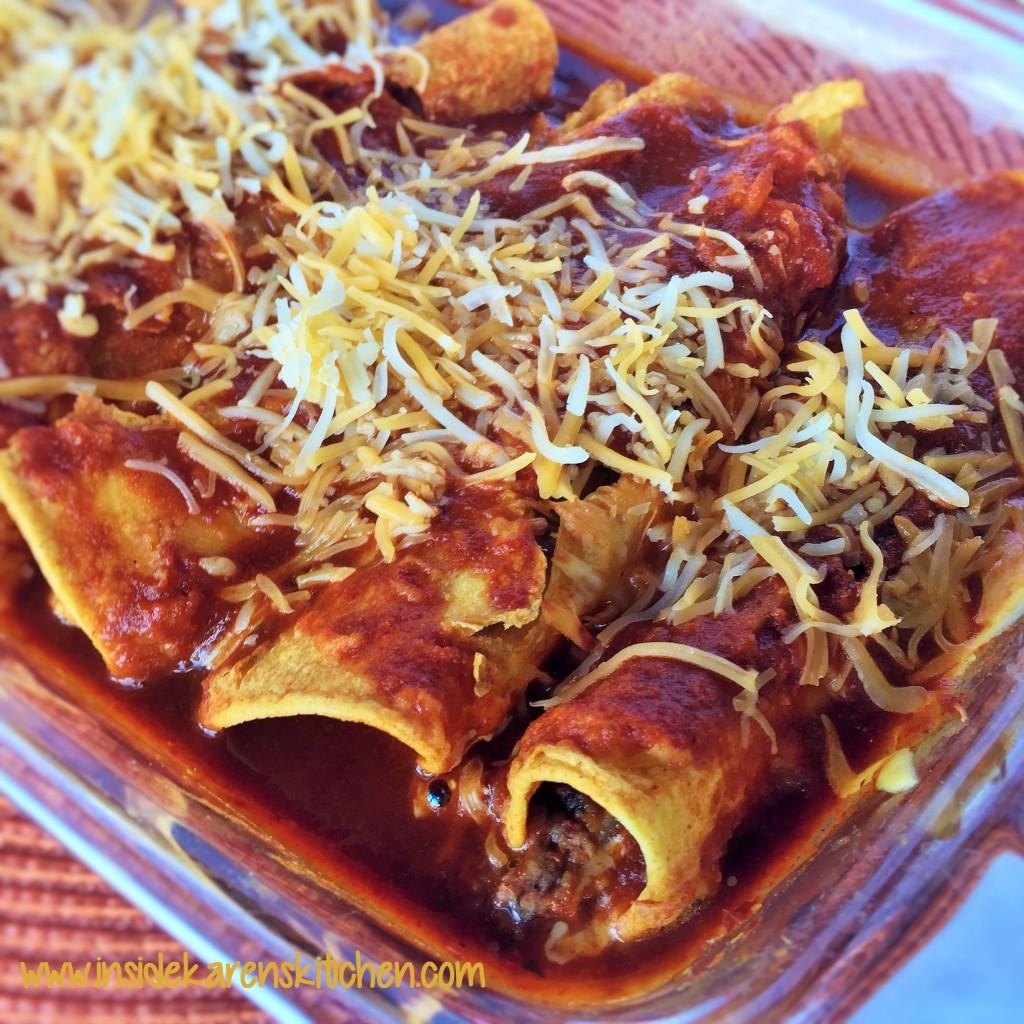Spicy White and Black Bean Enchiladas 2