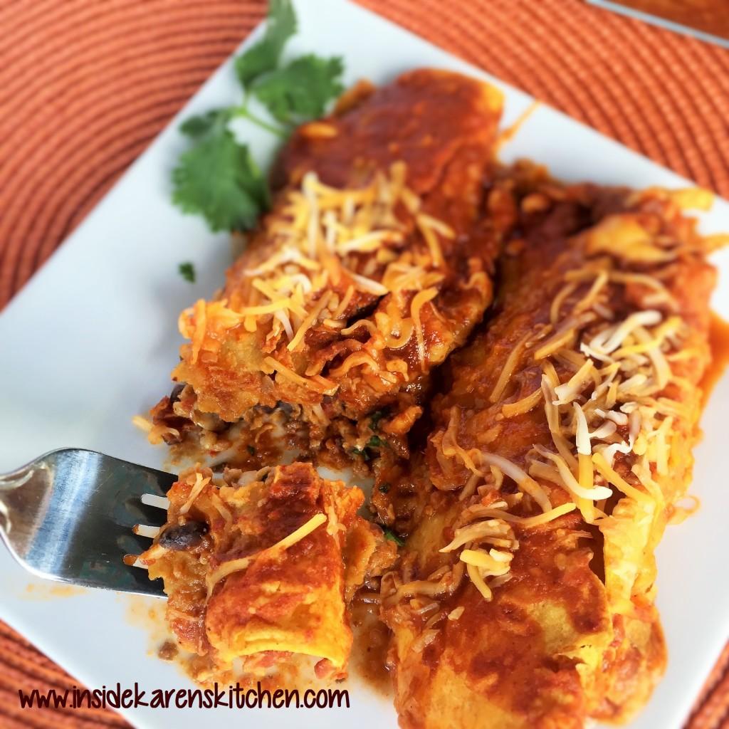 Spicy White and Black Bean Enchiladas 3
