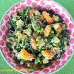 Spring Quinoa Salad with Lemon Basil Dressing 2