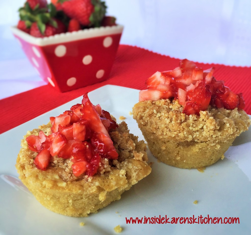 Whole Wheat Coconut Cheesecake Muffins with Strawberry Topping 1
