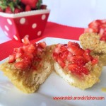 Whole Wheat Coconut Cheesecake Muffins with Strawberry Topping 3