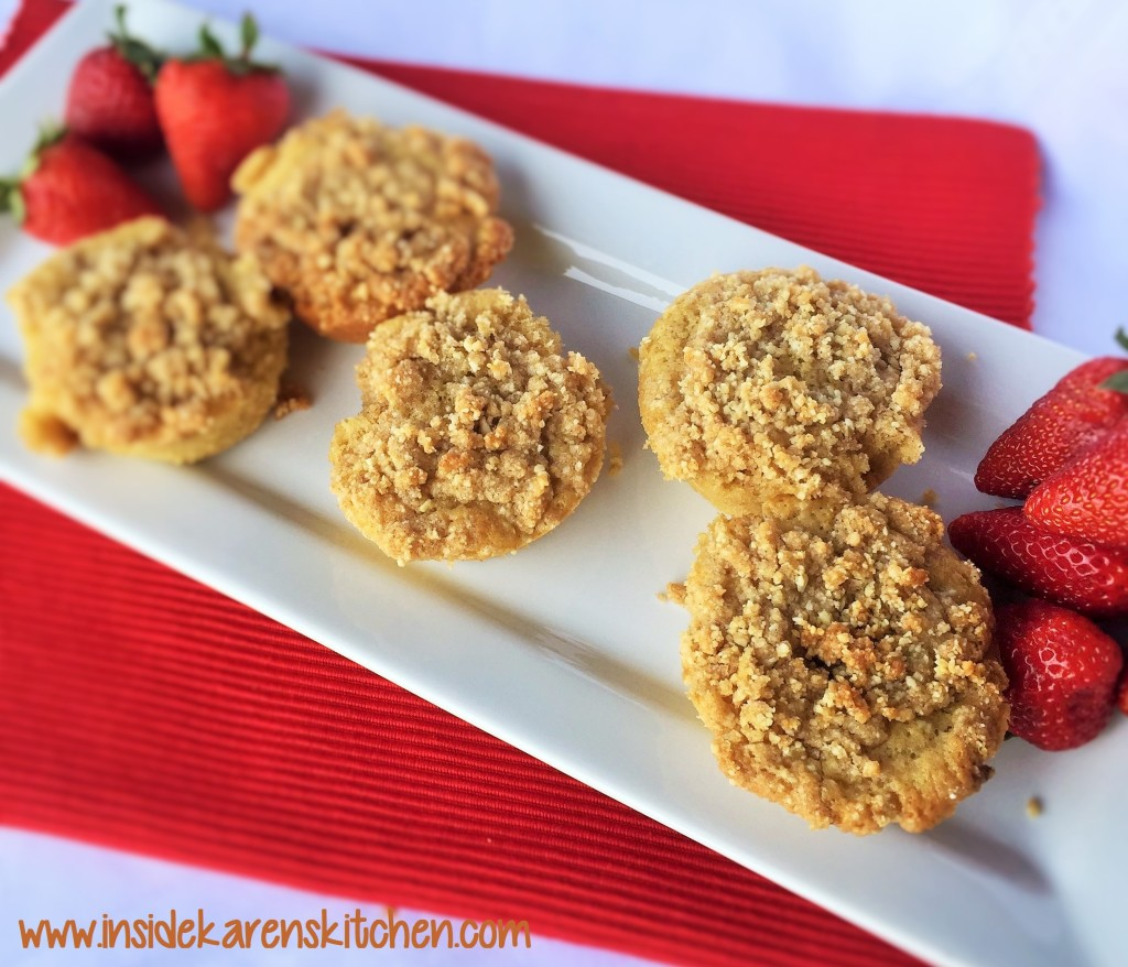 Whole Wheat Coconut Cheesecake Muffins with Strawberry Topping 4