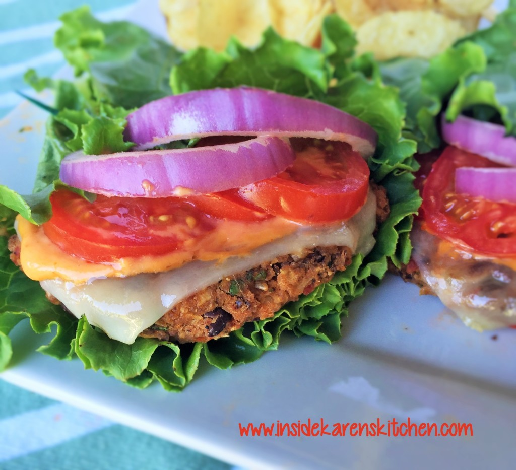Black Bean Burgers with Spicy Chipotle Sauce