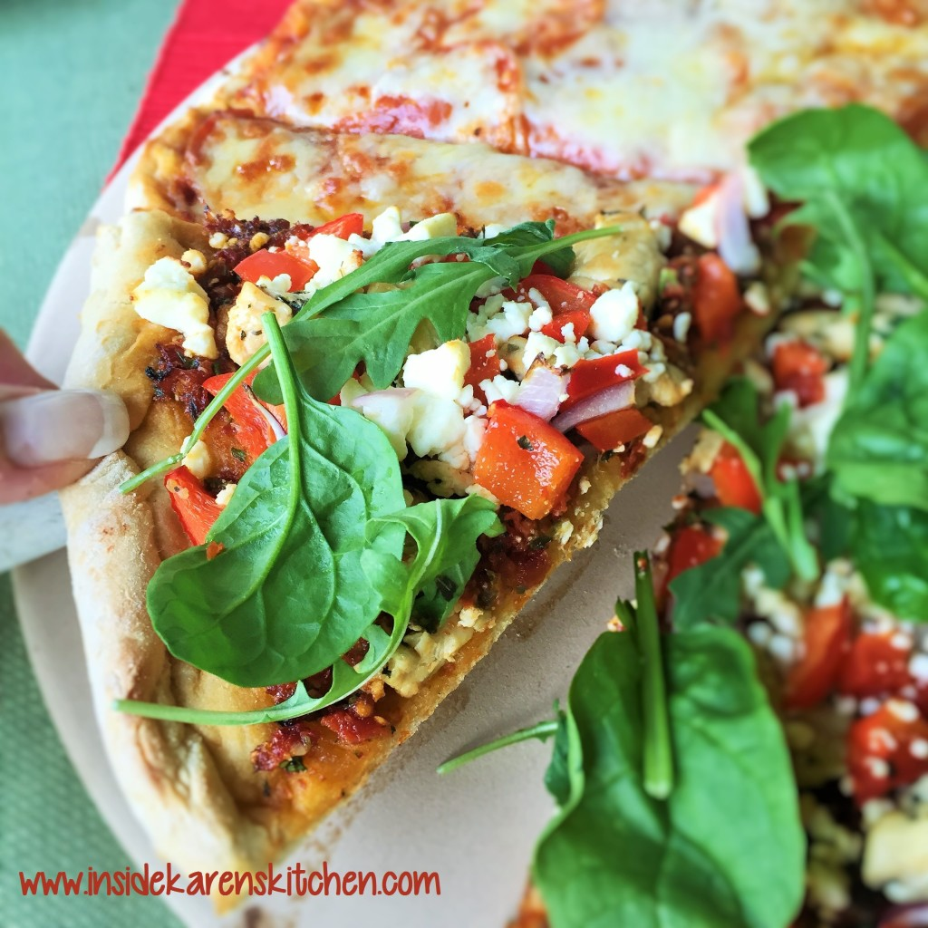 Greek Chicken Pizza with Easy Whole Wheat Crust 2